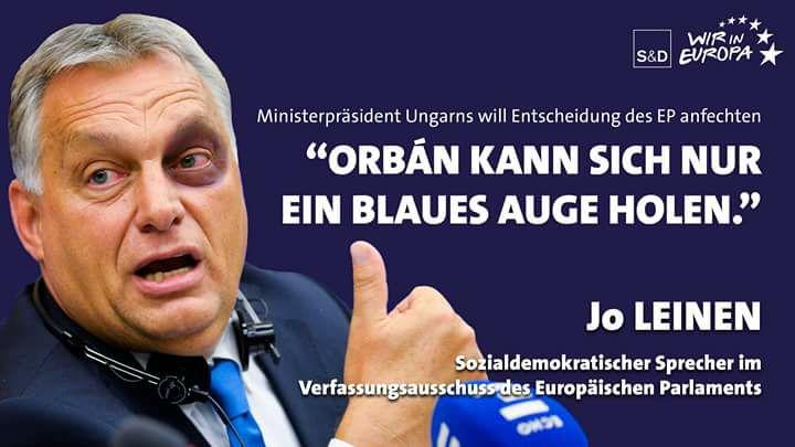 """""""Orbán kann sich nur ein blaues Auge holen""""  Ministerpräsident will vor EuGH gegen Rechtstaatsverfahren klagen"""